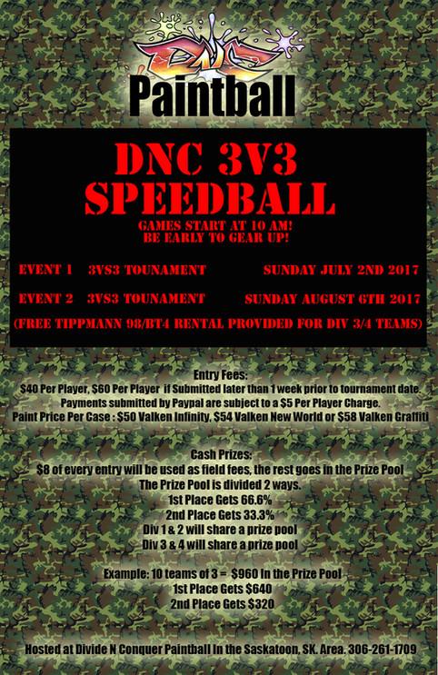 3v3 Speedball Tournaments! Newbie Friendly!