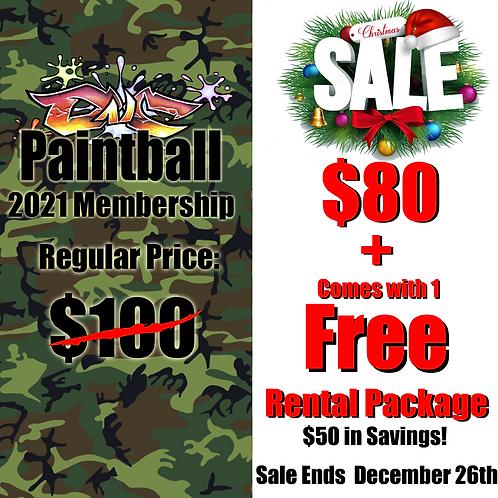 DNC Paintball 20201 Membership + Rental Package