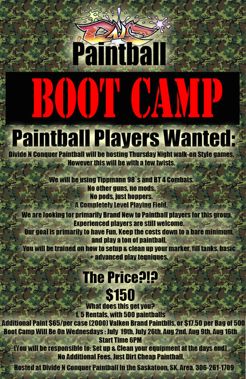 Paintball Bootcamp!