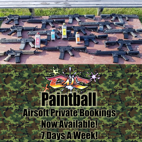New Airsoft Private Bookings & Sat Walk-Ons