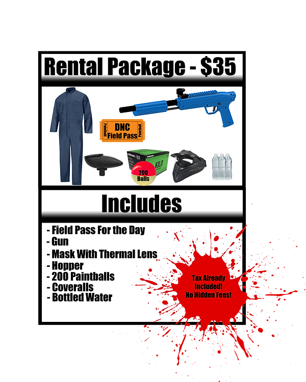 Rental Package 2019  Splat Master Rental