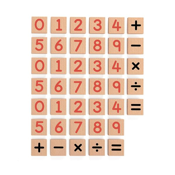 Цифри та знаки на магніті