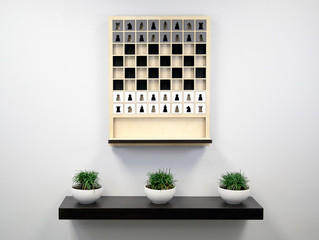 Оригинальное шахматная доска или необычный декоративный гобелен?