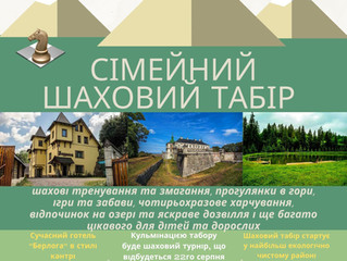 Семейный шахматный лагерь в Карпатах            18 - 22 августа 2021г.