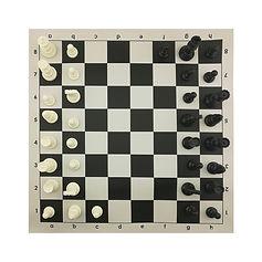 Виниловая шахматная доска с фигурами