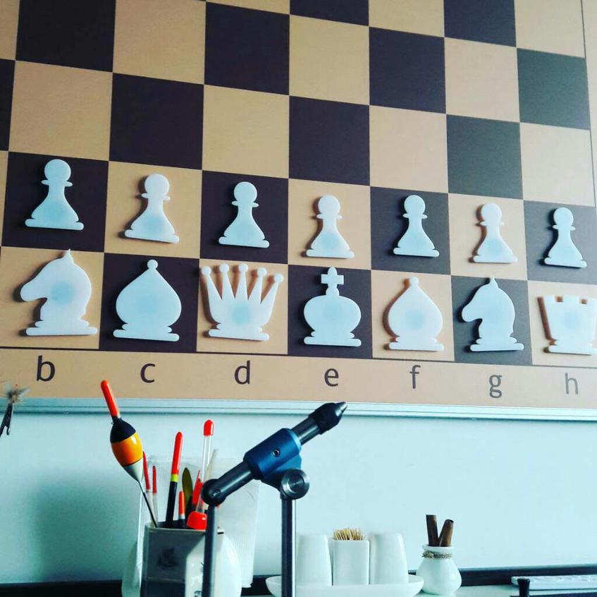 Настінна шахівниця фрагмент