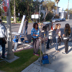 Mike Edgell directing Video in LA