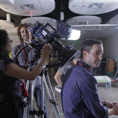 Mike Edgell on set