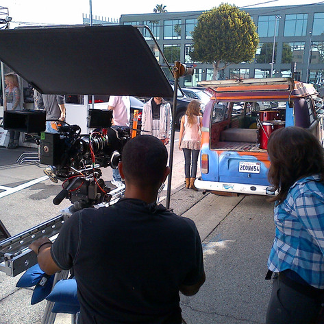 Mike Edgell on set in LA