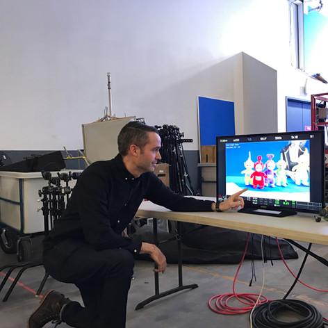 Creative Director Mike Edgell on set