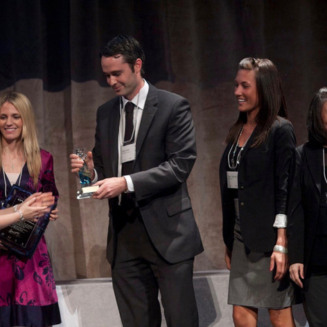 Mike Edgell receiving award, RBC Branded Content