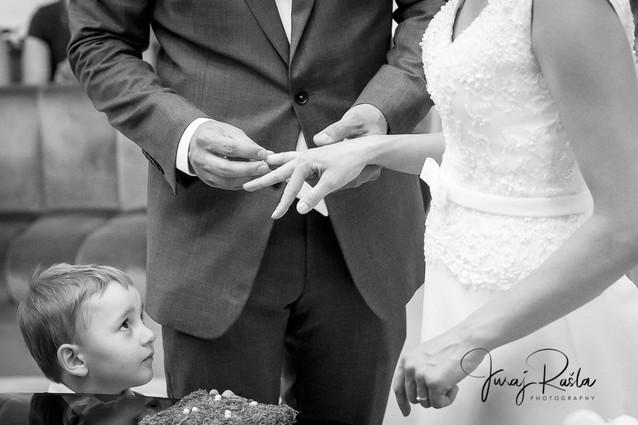 výmena obrúčok, svadobný fotograf