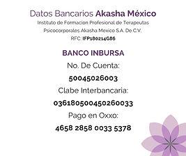 Datos Bancarios Akasha