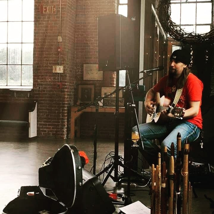 Ryan LittleEagle at Left Nut Brewery