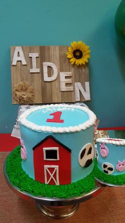 Farm House themed 1st birthday