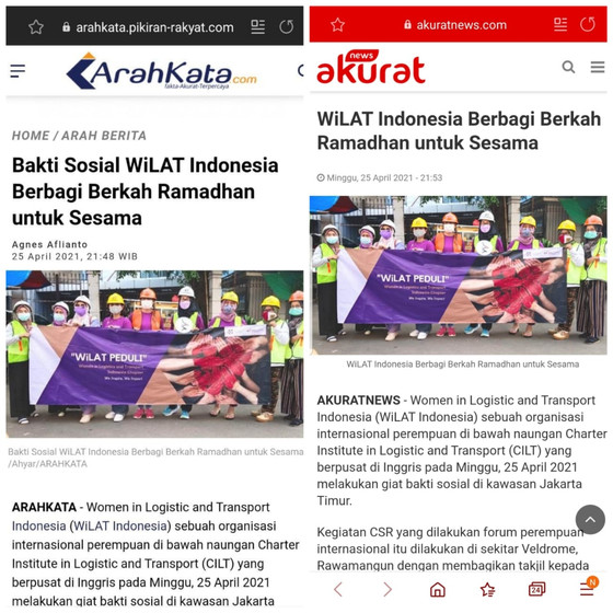WiLAT Indonesia in collaboration with media to introduce WiLAT to the public.
