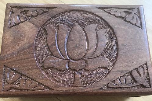 Lotus Wooden Box