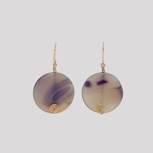 The Rina - Natural Purple Lace Agate