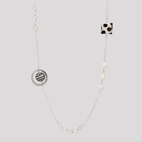Francesca Detailed Chain - Silver
