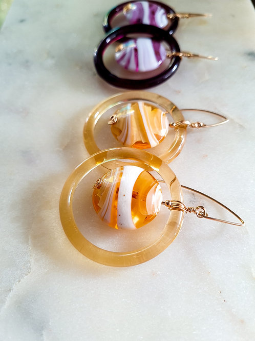 The Fleur Limited Murano Hoops