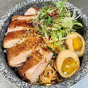 Pan Seared Chicken Korean Noodles