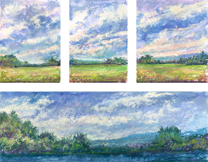 Pastel Multiple Image Composition Study
