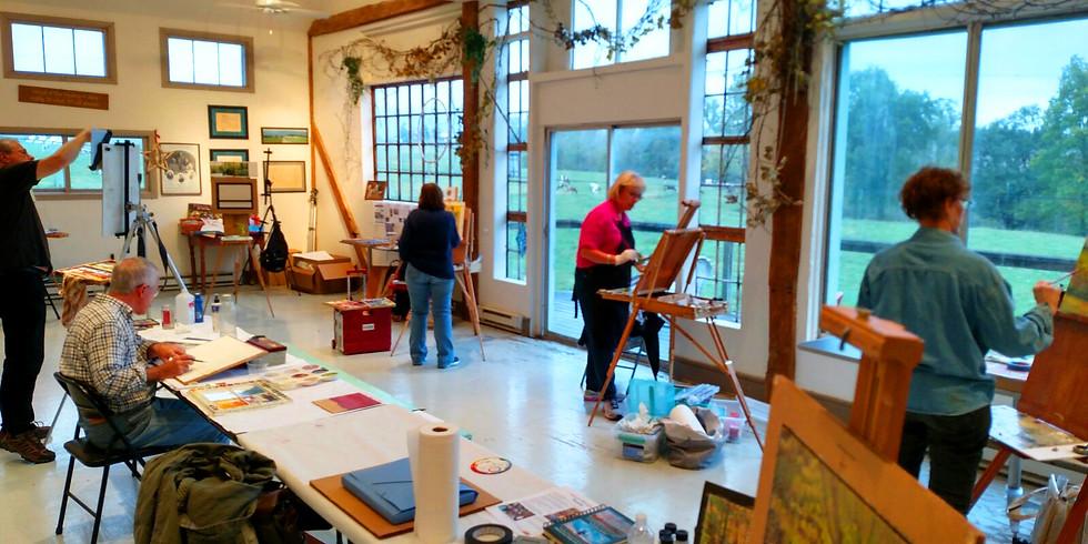 October 2019 Hameau Farm Studio Artist Retreat