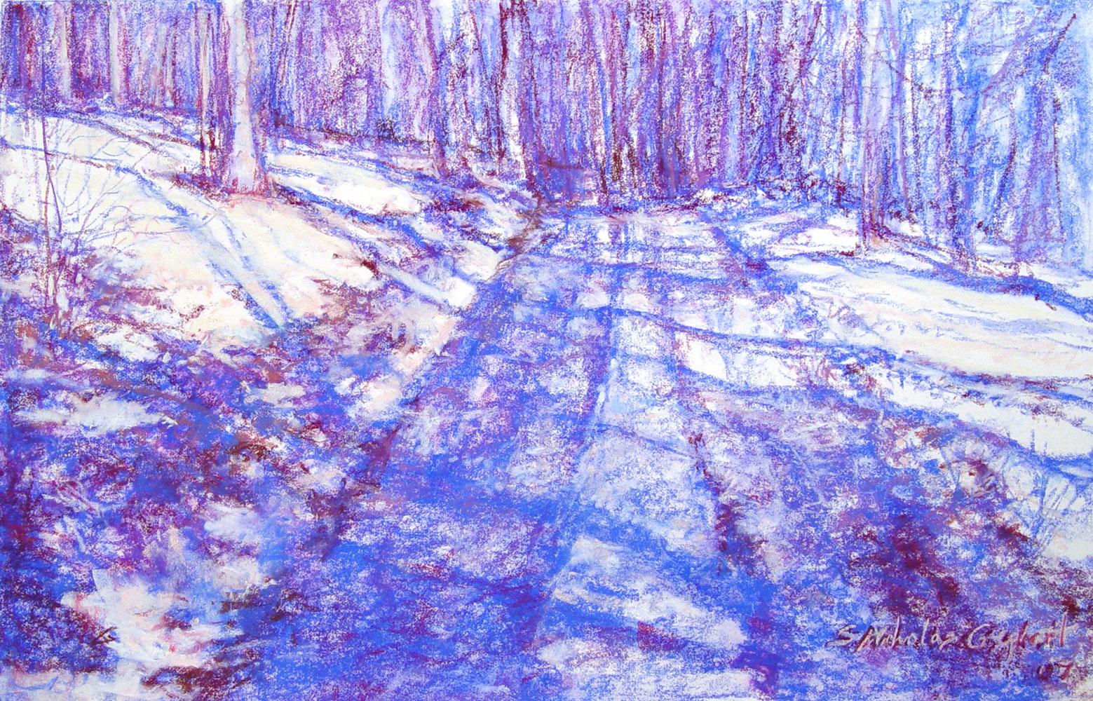 Cabin Lane in Snow