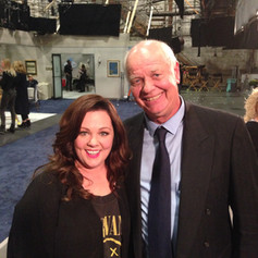 Jimmy Dale on set with Melissa McCarthy-2015
