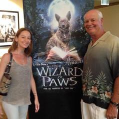 Wizard Paws film using Agi's Tune: Jimmy with Agi's Niece