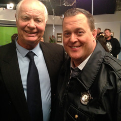 On set with Billy Gardell