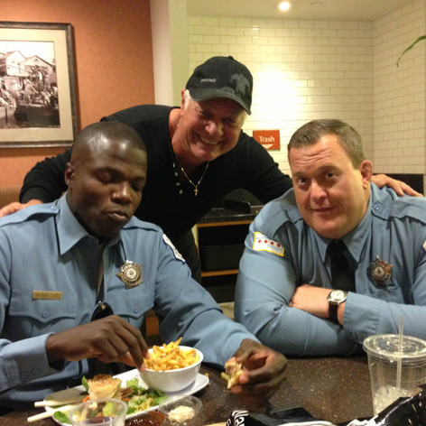 "JimmyDale-""Reno"" on set with Billy Gardell, 2015"