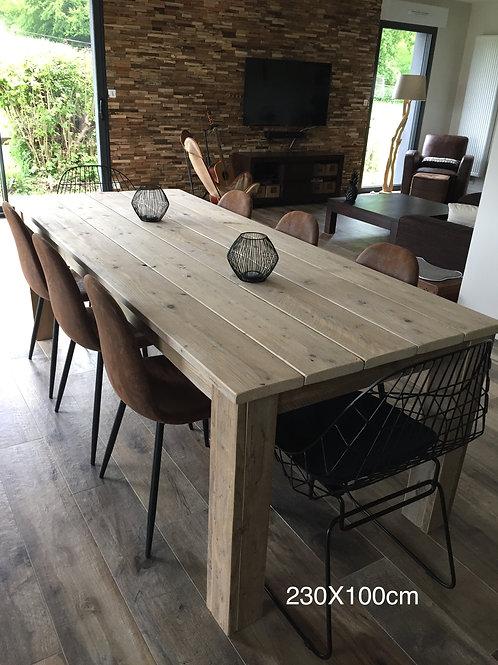 Table Bois d'échafaudage recyclé