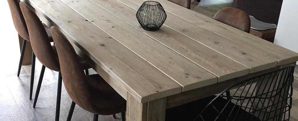 Nos tables Bois d'échafaudage recyclé...