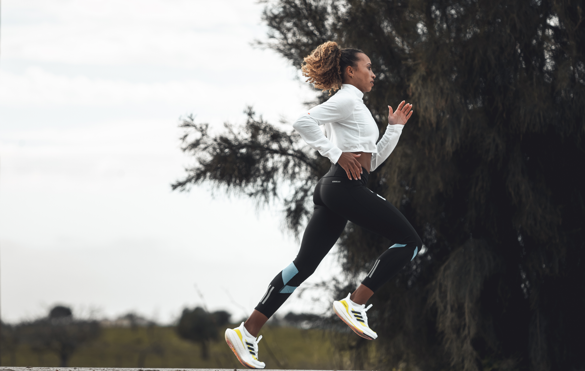 Nadia Power show off new adidas boston