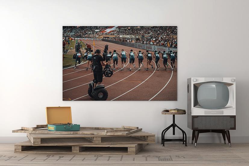 Fotoleinwand 120cm*80cm - 1500m men- Athletissima 2019