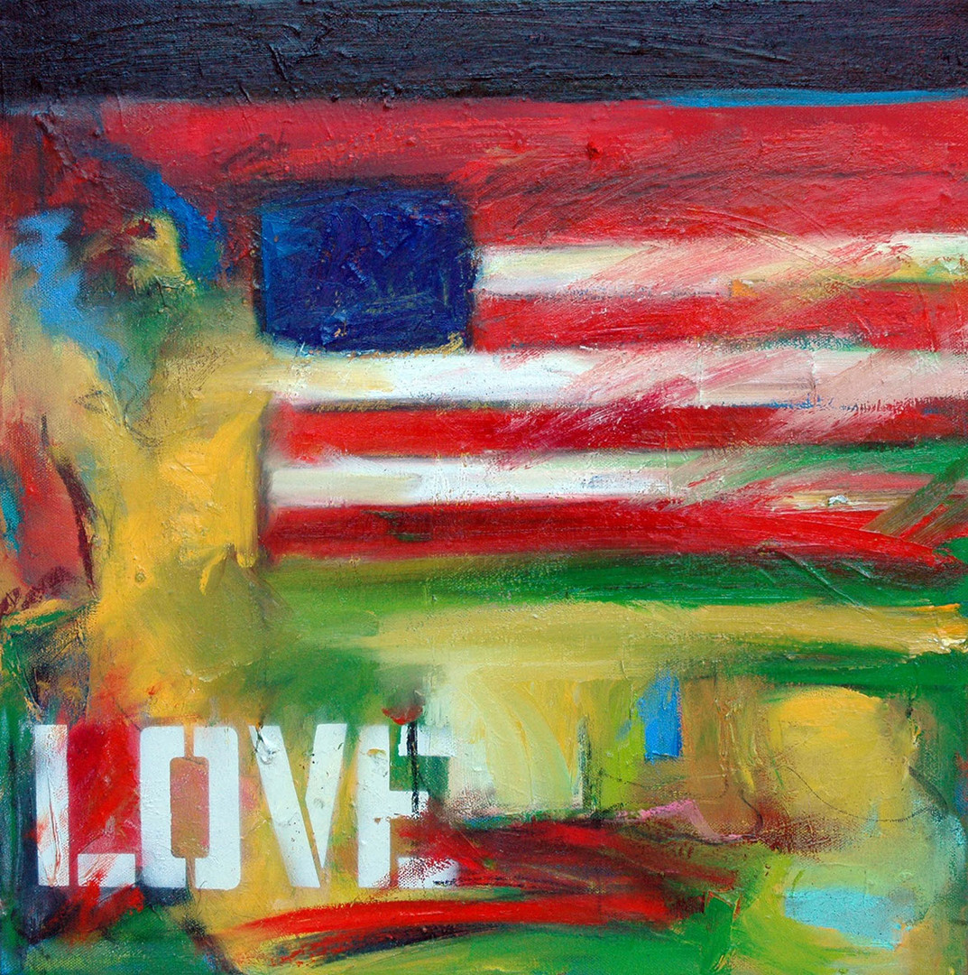 for love of country12x12, oil canvas, 08