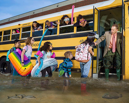 Buses, Boots, and Boogie Boards