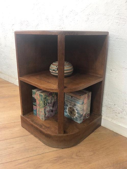Petit meuble d'angle bois ciré