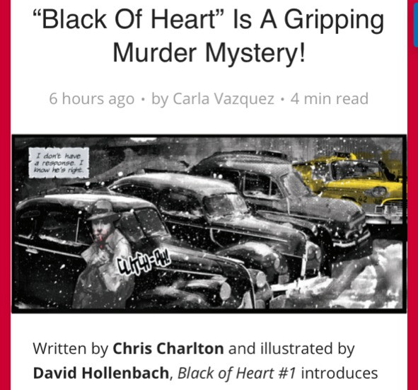 black of heart charlton writes chris charlton carla vazquez review murder mystery place to hang your cape david hollenbach