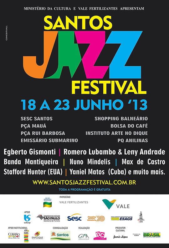 cartaz santos jazz 2013