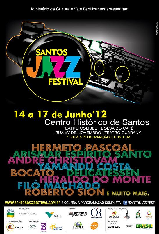 cartaz santos jazz 2012