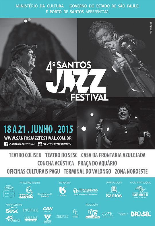 cartaz santos jazz 2015