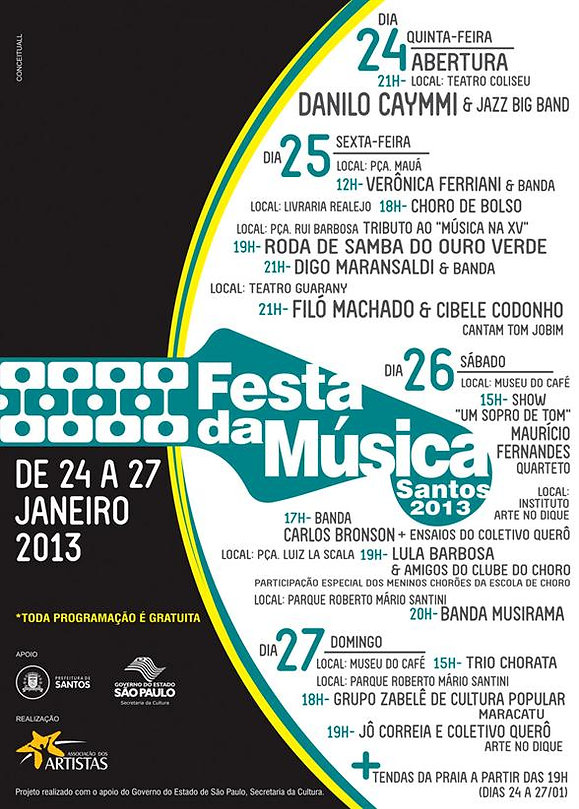 cartaz festa da música 2013