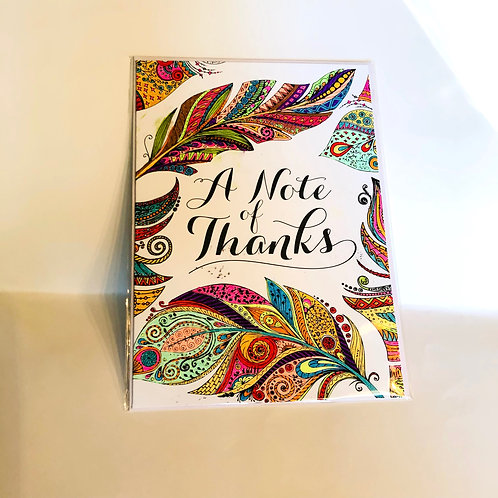 A Note of Thanks #21 Hand-colored Card
