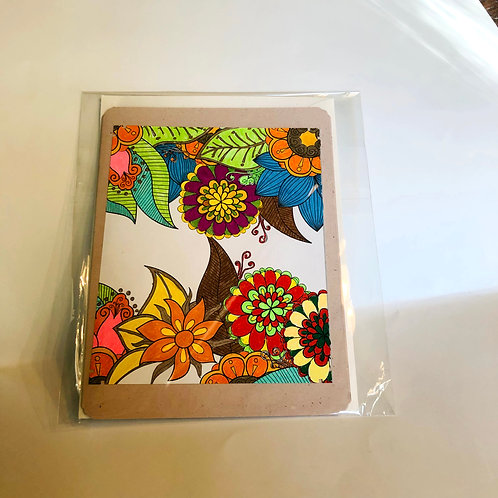 Floral #13 Hand-colored Card