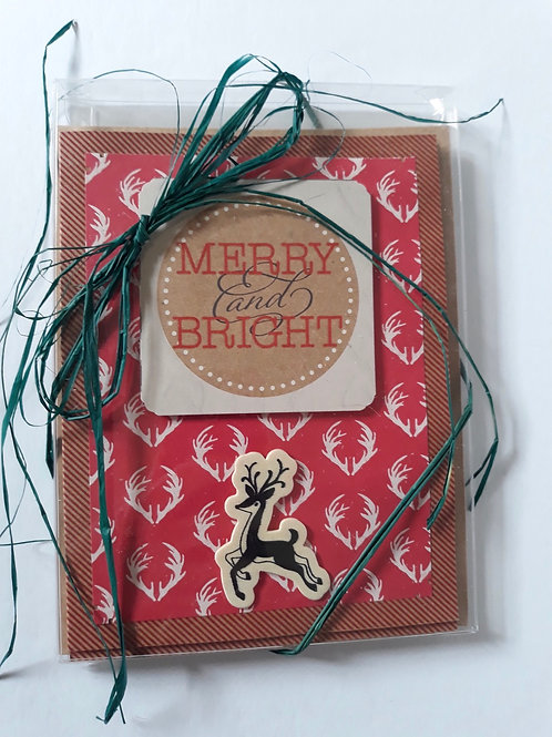 Handmade Christmas Cards 4-Pack
