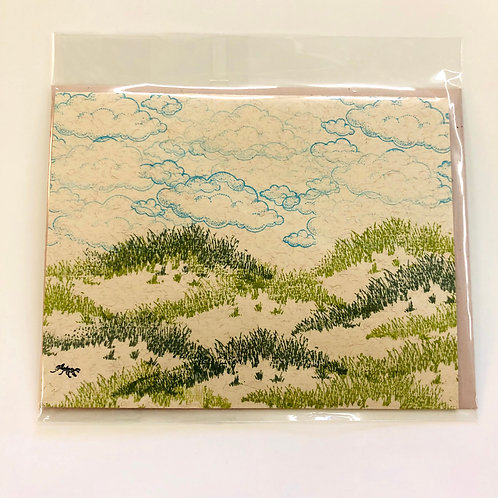 Landscape Clouds Handmade Card