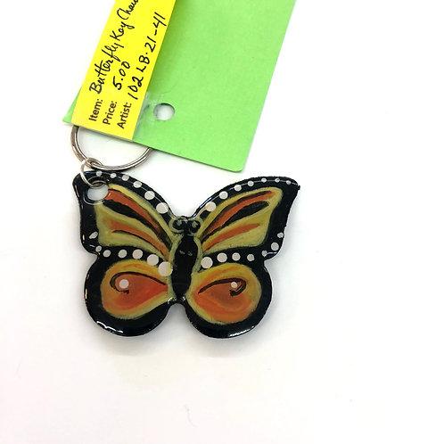 Orange/Black Butterfly Key Chain #41