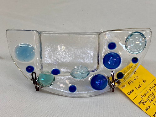 Fused Glass Business Card Holder